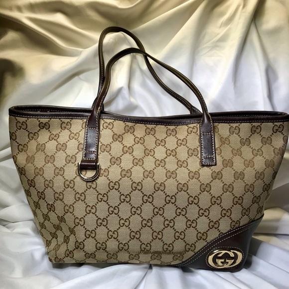 b6174b4e2e8f Gucci Bags   Britt Medium Tote 169946 493075   Poshmark
